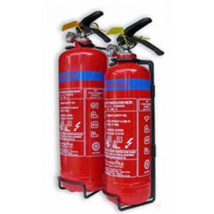 1kg Dry Powder Fire Extinguisher with wall bracket