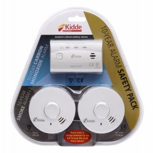Kidde 10 year alarm safety pack