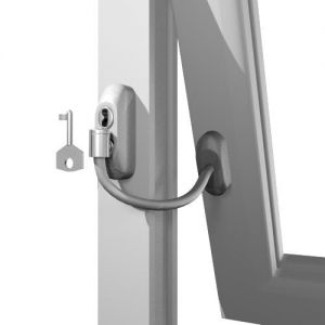 LOCKABLE WINDOW RESTRICTOR